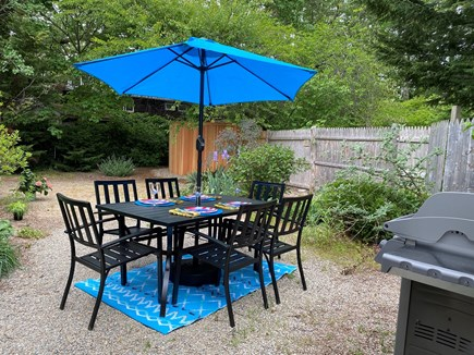 Provincetown Cape Cod vacation rental - Backyard, outdoor dining, new grill, new outdoor shower