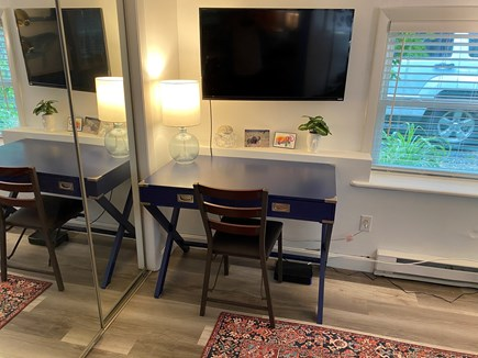 Provincetown Cape Cod vacation rental - Media/reading room with TV and desk for you laptop