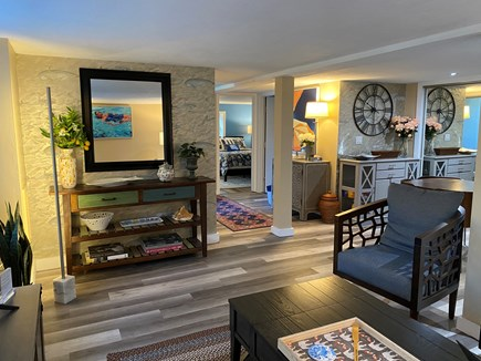 Provincetown Cape Cod vacation rental - Living room; new flooring and windows throughout condo