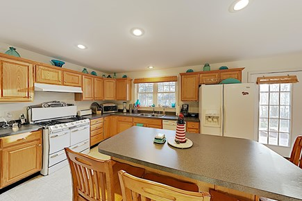 Brewster Cape Cod vacation rental - Full Kitchen with Antique gas stove