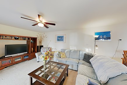 Brewster Cape Cod vacation rental - Living Rm Seating off Deck, Flat screen TV w/cable