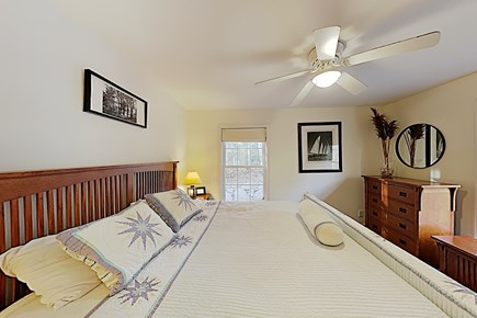 Brewster Cape Cod vacation rental - First Floor King Master Bedroom, 2 dressers w/ side tables