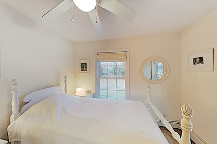 Brewster Cape Cod vacation rental - First Floor Single + Single Trundle Bed, side tables & armoire