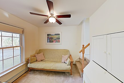 Brewster Cape Cod vacation rental - First Floor Family Room, small TV & Full Futon, desk