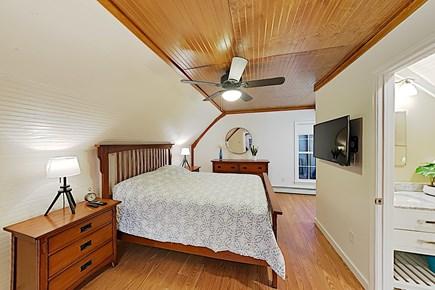 Brewster Cape Cod vacation rental - Second Floor Queen Bedroom connecting 1/2 Bath