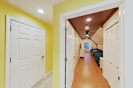 Brewster Cape Cod vacation rental - Second Floor Hall to Double Twin Bedroom