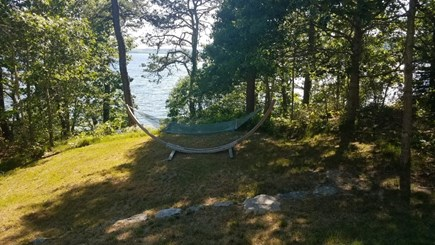 Brewster Cape Cod vacation rental - Hammock  overlook -Waterfront hill path after outdoor warm shower