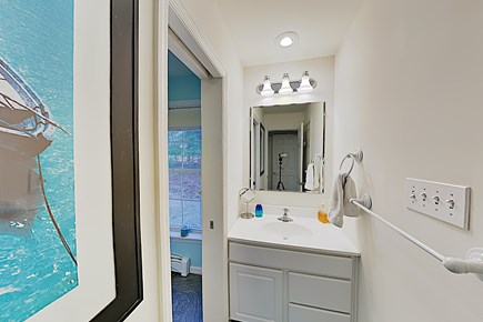 Brewster Cape Cod vacation rental - Master Full Bath: Shower w/Tub & toilet separate from sink