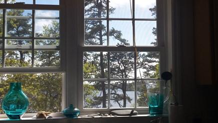 Brewster Cape Cod vacation rental - Kitchen Windowsill Upper Mill Pond (Sunset) View