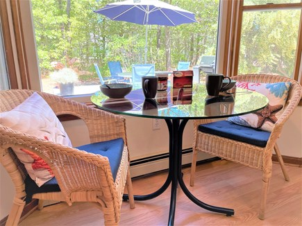 Eastham Cape Cod vacation rental - Breakfast nook perfect for coffee and watching the morning birds