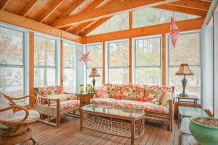Eastham Cape Cod vacation rental - Screened-in sunroom with seating for 8
