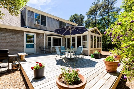Eastham Cape Cod vacation rental - Enjoy the back deck any time of day!