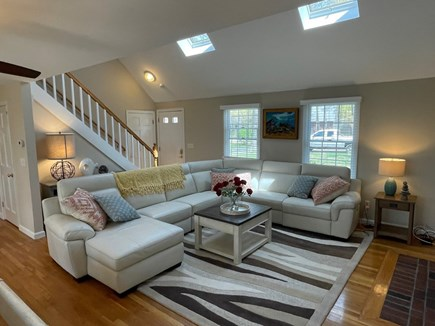 Eastham Cape Cod vacation rental - Comfortable living room with large leather sectional
