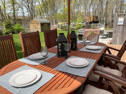 Eastham Cape Cod vacation rental - Outdoor dining on brand new AZEK deck