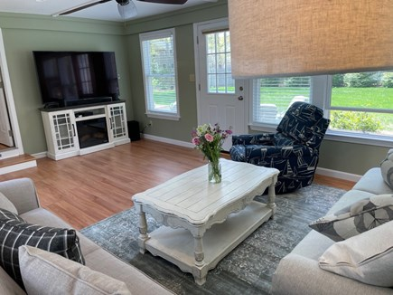 Eastham Cape Cod vacation rental - 65 inch TV in sun room