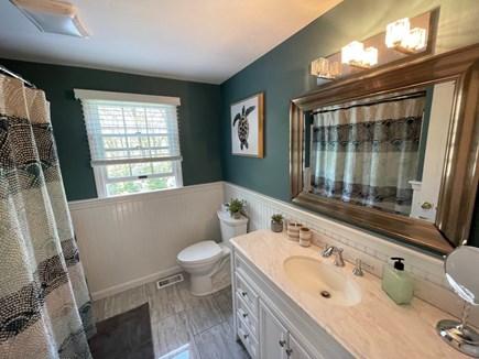 Eastham Cape Cod vacation rental - Upstairs bathroom w bathtub and shower