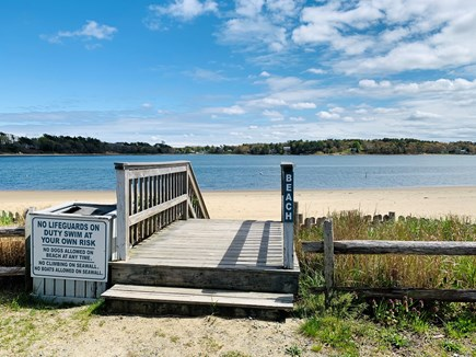Bourne, Buzzards Bay Cape Cod vacation rental - The private beach, picture yourself relaxing here!