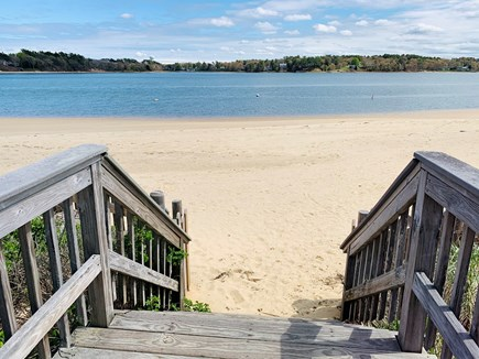 Bourne, Buzzards Bay Cape Cod vacation rental - Stairway to the private beach.