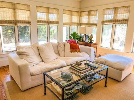 Orleans Cape Cod vacation rental - Bright Living Room with cathedral ceiling