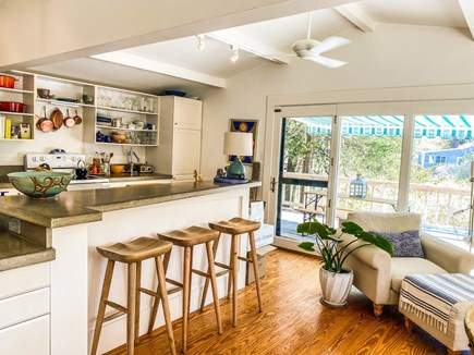Orleans Cape Cod vacation rental - Kitchen/Dining leading to deck