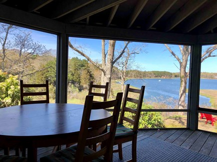 Orleans  Cape Cod vacation rental - View from screened in porch, dining for 8!