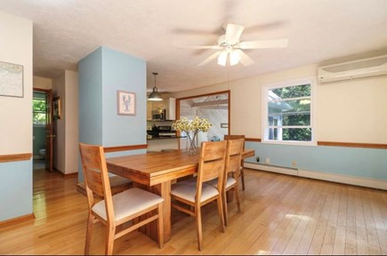 Mashpee, South Cape Beach Estates  Cape Cod vacation rental - Dining room with slider to large deck.