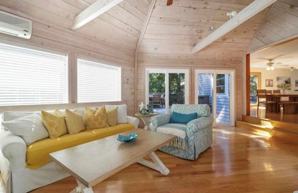 Mashpee, South Cape Beach Estates  Cape Cod vacation rental - Sun room with dual sliders to the deck.