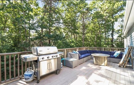 Mashpee, South Cape Beach Estates  Cape Cod vacation rental - Large deck with gas grill.