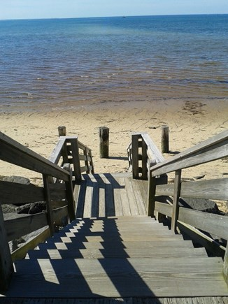 Provincetown Cape Cod vacation rental - Stairs to beach just steps away from the condo