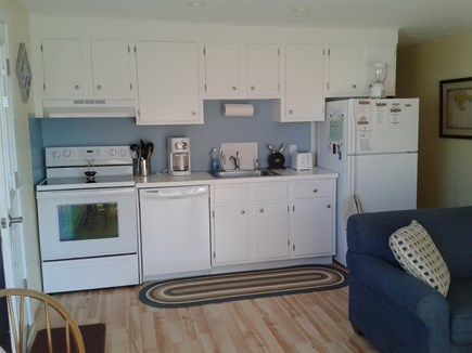 Provincetown Cape Cod vacation rental - Kitchen area with refridgerator, dishwasher and stove/oven