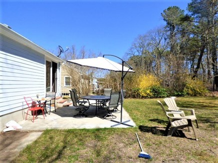 South Dennis Cape Cod vacation rental - Outdoor dining with Umbrella