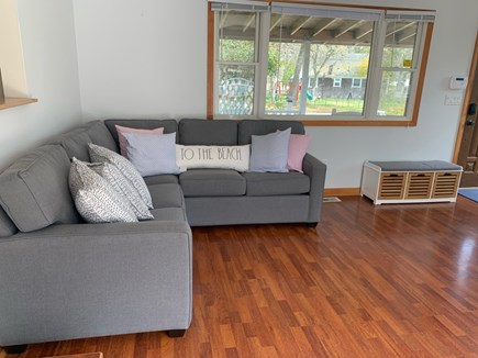 Chatham Cape Cod vacation rental - Corner couch for games and fun!