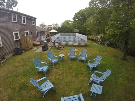Chatham Cape Cod vacation rental - Beautiful backyard with an outdoor shower, fenced yard & pool!