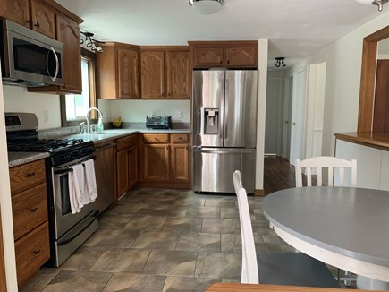 Chatham Cape Cod vacation rental - Kitchen with Stainless steel appliances and fridge with icemaker