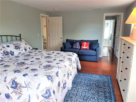 Barnstable, HYANNIS Cape Cod vacation rental - Master bedroom with king size bed and full size sofa bed