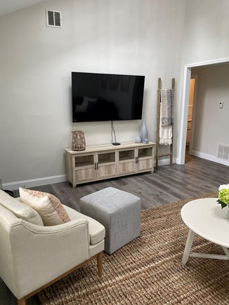 South Yarmouth Cape Cod vacation rental - Living Room with 65 inch smart TV.