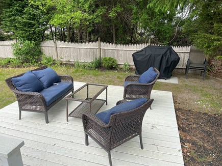 South Yarmouth Cape Cod vacation rental - Patio area and grill, great for entertaining.