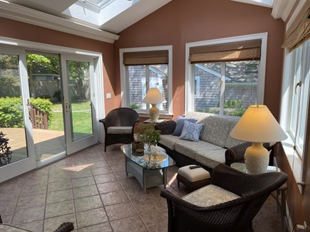 North Falmouth Cape Cod vacation rental - Sunroom with large flatscreen