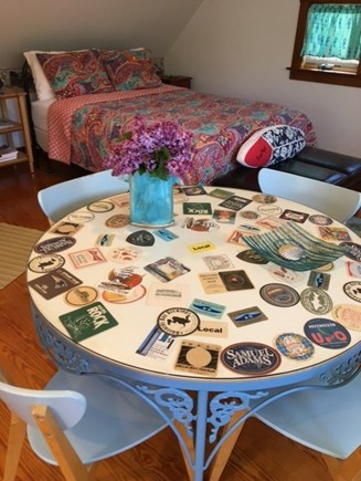 Eastham Cape Cod vacation rental - Dining table with  fresh flowers