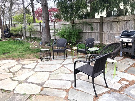 Harwich Cape Cod vacation rental - Good karma patio off porch, Weber grill, private fenced in yard