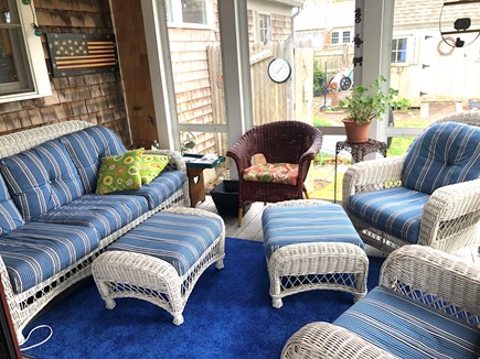 Harwich Cape Cod vacation rental - Screened in porch - comfortable sitting area