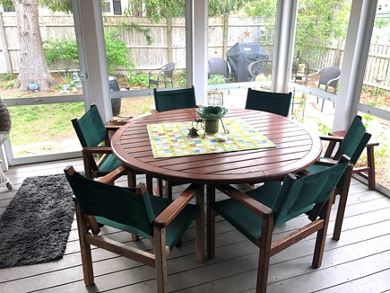 Harwich Cape Cod vacation rental - Dining for 6 on the screened porch