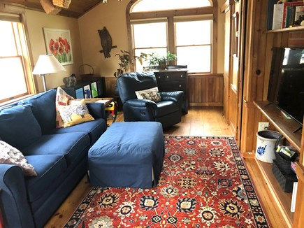 Harwich Cape Cod vacation rental - Cable TV with vaulted ceiling, 1/2 bath & queen LazyBoy pullout