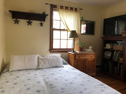 Harwich Cape Cod vacation rental - Bedroom with pillow topped queen-sized IKEA futon & cable TV