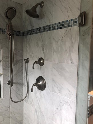 Harwich Cape Cod vacation rental - Beautiful tiled shower stall in main bathroom that also has tub