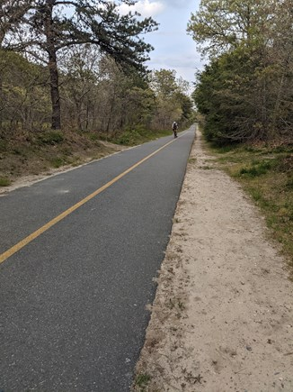 Harwich Cape Cod vacation rental - Cape Cod Rail Trail path, just 1 house over, very safe to access!
