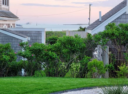West Yarmouth Cape Cod vacation rental - Beach views from the shell walkway leading to the patio area