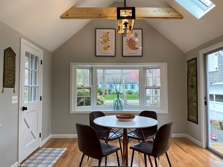 Brewster Cape Cod vacation rental - An inviting dining table adjoining the kitchen