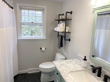 Brewster Cape Cod vacation rental - First floor bathroom with tub and shower