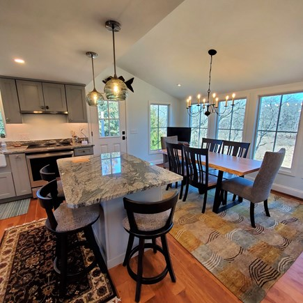 Eastham Cape Cod vacation rental - Open kitchen dining room with views!